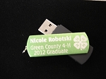 Green Personalized Flash Drive