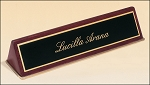 Desk Nameplate in Rosewood Piano-Finish