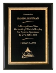 Piano Finish Plaque with Florentine Design Borders