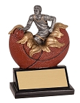 Basketball -- Exploding Basketball Resin Trophy, Male
