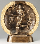 "Basketball, Male - Resin Figure High-Relief Series. 7½"" Tall"