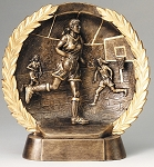 "Basketball, female - Resin Figure High-Relief Series. 7½"" Tall"