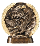 "Eagle - Resin Figure High-Relief Series. 7½"" Tall"