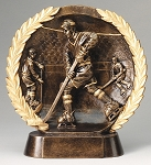 "Hockey - Resin Figure High-Relief Series. 7½"" Tall"