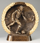 "Soccer, Male - Resin Figure High-Relief Series. 7½"" Tall"