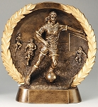 "Soccer, Female - Resin Figure High-Relief Series. 7½"" Tall"