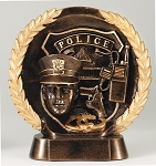 "Police - Resin Figure High-Relief Series. 7½"" Tall"