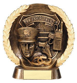 "Law Enforcement - Resin Figure High-Relief Series. 7½"" Tall"